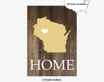 Custom HOME | State with Heart | Pallet Board | Shiplap | Espresso