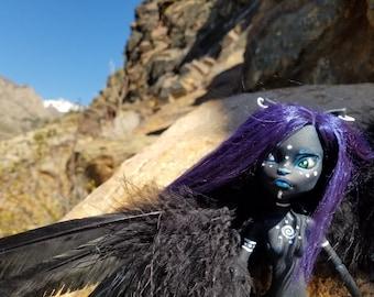OOAK Monster High Repaint (Art Doll Only) Zara the Winged Cat Warrior