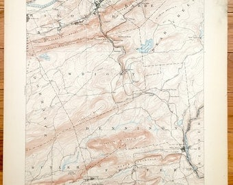 Antique Wilkes Barre Pennsylvania 1894 Us Geological Survey Topographic Map Plymouth Sugar