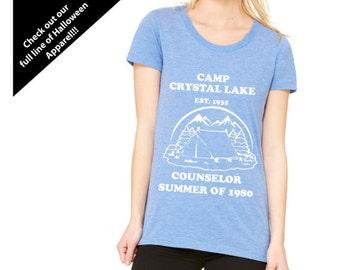 CAMP CRYSTAL LAKE! Women's Camp Counselor Shirt!