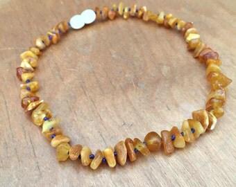 Milky Amber Teething Necklace, custom amber necklace, Baltic amber teething necklace, custom amber baby necklace, Baltic amber baby necklace