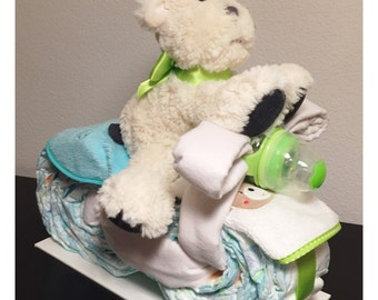 Baby shower gift - diaper motorcycle