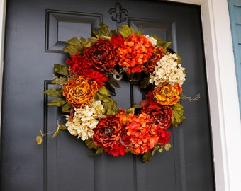 Large Fall Wreaths, Large Wreath For Fall, Front Door Wreath, Extra Large Door Decor