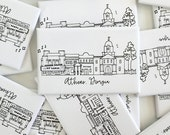 Athens, Georgia Skyline Magnets