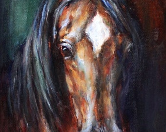 Original Horse Painting on canvas of 'Equine Divine II' Oil Painting