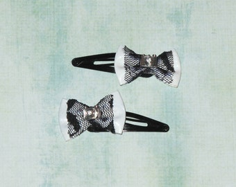 Camera lace pvc hair bows
