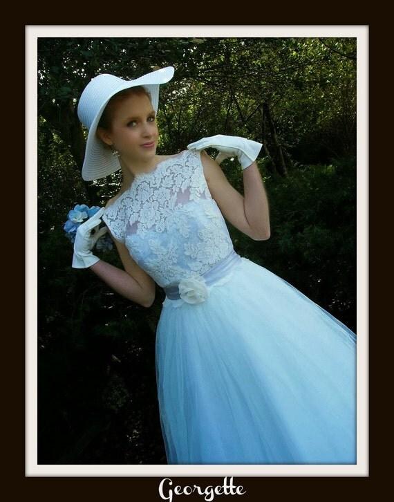 1950s Wedding Dress  'GEORGETTE'