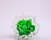 Neon Green Hand Pulled Straight Stem Flower Made in the U.S.A, in Toledo Ohio aka GlassCity 419
