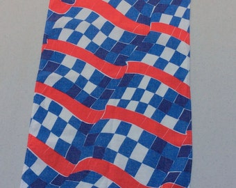 Vintage Vera Towel RWB Racing Flag Check