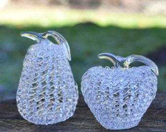 Pair of Spun Glass Fruit