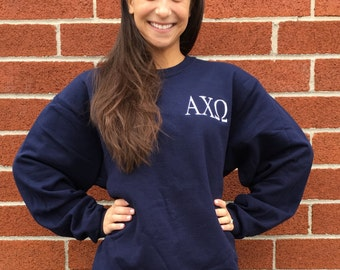 Sorority sweatshirt , personalized sweatshirt , embroidered ladies sweatshirt, womans sweatshirt