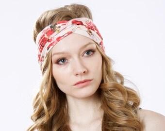 5 Women's Headbands Boho Headband Turban Headband Ear Warmer Gift For Her Spring Fashion Headband For Women Adult Turban Twist Knot Bandana