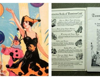 Vintage Dennison's Gala Book, Vintage Dennison Booklet, 1922 Dennison, Party Planning, Craft Book, Party Decoration How To, Costume Book