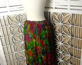 Vintage Boho Maxi Skirt - floral maxi skirt - hippie skirt - flower power - gypsy skirt - bohemian skirt - Stevie Nicks skirt