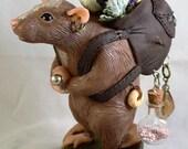 Marigold, Rat Merchant - Polymer Clay Original Sculpture