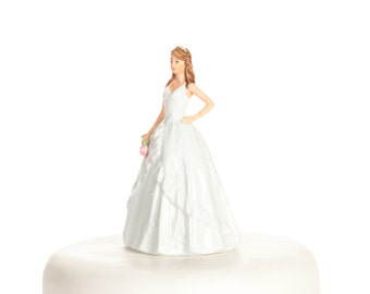 Porcelain Quinceanera & Sweet Sixteen  Figurine - Custom Painted Hair Color Available - 707519