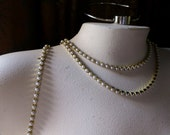 Pearl Chain SS18  1/2 Yard in Raw Brass for Bridal, Costume or Jewelry Design