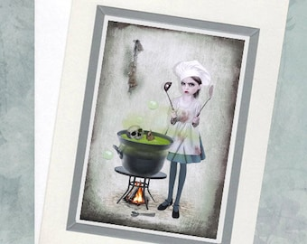 Lowbrow Greeting Card - Big Eyes Art - Hungry For Love