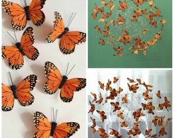Monarch Butterfly Mobile, Nature Art, Hanging Art Mobile