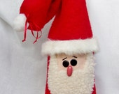 Santa Bottle Bag Christmas Wine Gift Wrap by Happy Valley Primitives OFGHGG