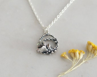 Floweret Small Silver Necklace / AMARANTA Collection