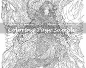 "Art of Meadowhaven Fantasy Coloring Page Download: ""First Songs"""