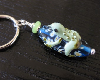 Froggy On Lily Pad Key Ring