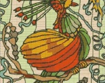 Digital PDF File Bead Stitch Patterns in Brick Peyote and Loom - Bird 195