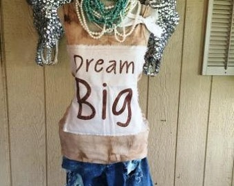 Dream Big Tank Top Shabby Chic Rodeo Country Southern Western Sayings Custom Unique