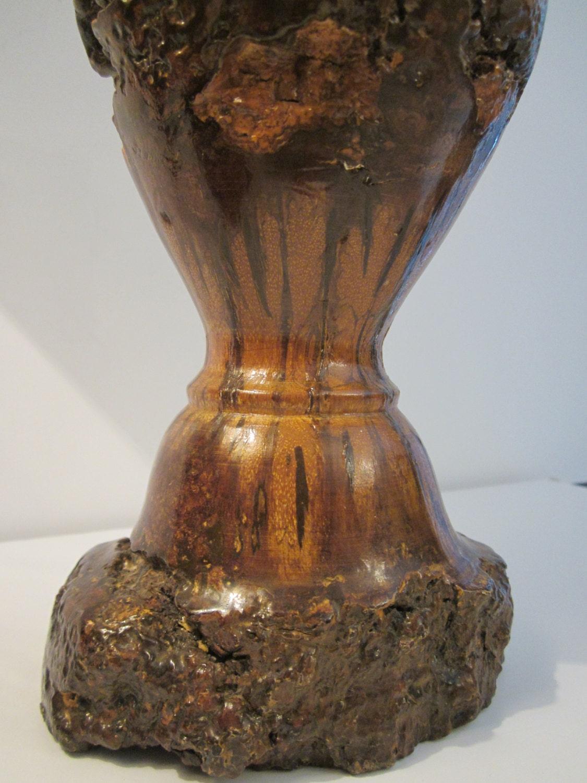 Hawaiian Koa Wood Vase Made By Alii Of Waikiki Honolulu