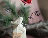 Ceramic Flower Arrangement and Card/Picture Holder