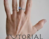 TUTORIAL-How to make a sterling silver stacking ring for beginners- Easy Tutorial