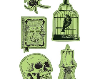 Halloween Cling Mounted Rubber Stamps from Inkadinkado - Nevermore