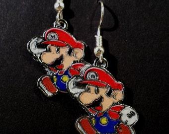 Video Game Earrings- Mario