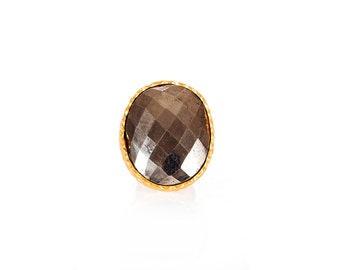 Statement Ring- Pyrite