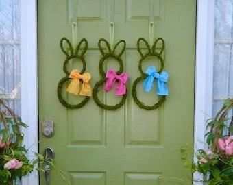 Mini Small Easter Bunny Wreath - Choose Bow