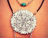 Snowflake Series: Wildflower Cosmos Mandala Layered Necklace