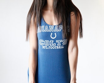 Vintage Indianapolic Colts Faded Blue Tank Top Made in USA