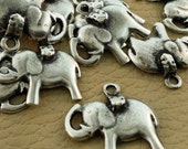 Silver Elephant Pendants