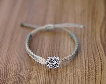 Lotus Flower Bracelet - Hemp Bracelet - Hemp Jewelry