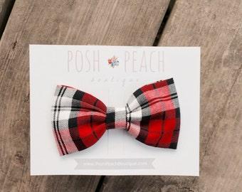 Perfectly Plaid Bow // Hair Clip or Headband