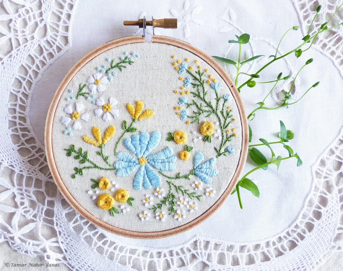 Hand embroidery kit embroidery hoop art christmas idea zoom ccuart Choice Image