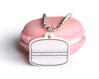 Kawaii Pink Macaron Acrylic Planner Charm- Kikki K, Filofax, Keychain