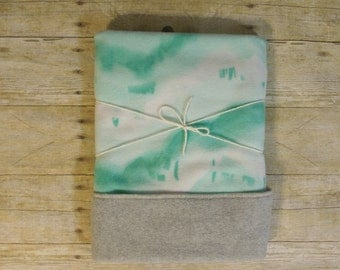 Mint Baby Blanket Fleece | Watercolor | Marble | Tie Dye | Chevron |