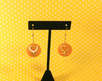 Awesome Sailor Venus Symbol Earrings - Anime Jewelry - Sailor Moon Jewelry