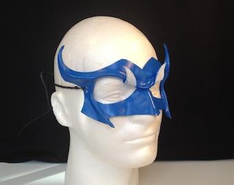 Blue Mardi Gras Mask Festival Blue Mask Horned Mask Mardi Gras Costume Halloween Mask Blue Devil Carnival Mask Masquerade Cosplay Bird Mask