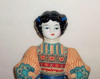 American Avon Heirloom Doll  Sachet or Pincushion Doll   Porceline Head  BX9  470653052