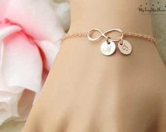 Personalized Infinity Bracelet Infinity Bracelet Initial Bracelet Bridesmaids Bracelet Friendship Bracelet Mother's day Gifts