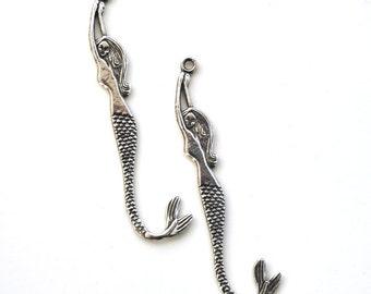 2 Pewter Mermaid Pendants