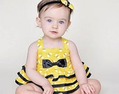 Baby Girl Birthday Outfit - Bumble Bee Outfit - First Birthday Outfit -  Baby Girl Cake Smash Outfit - Baby Girl Shoes - Bee Diaper Cover